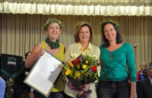 Vicki, Leanne and Jane with their award Photo - Helen Tatchell