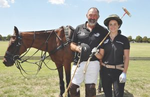Greg Keyte (Yaloak Polo Club) with Michelle Payne who will play in the celebrity match this Sunday. Photos – Helen Tatchell