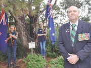 New Ballan RSL President, Rick Campey at the Aleppo Pine Tree Photo - Helen Tatchell