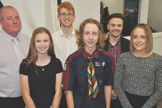 Youth Award winners with Moorabool Mayor Cr. David Edwards. Photo - Helen Tatchell