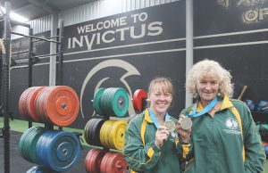 (L-R) Toni Lane and Louise Webb with their gold medals. Photo – Jessica Howard