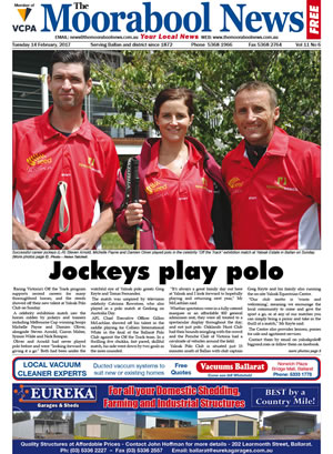 The Moorabool News front cover - 14th February 2017
