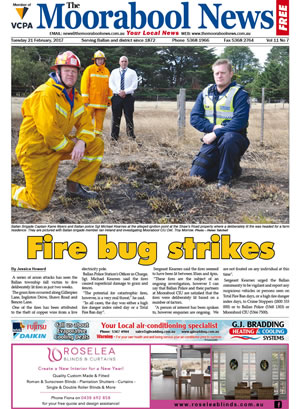 The Moorabool News front cover - 21st February 2017
