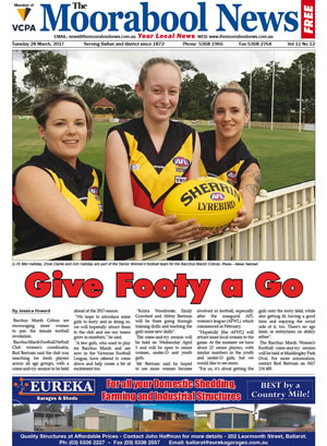 The Moorabool News front cover - 28th March 2017
