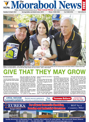 The Moorabool News front cover - 11th April 2017