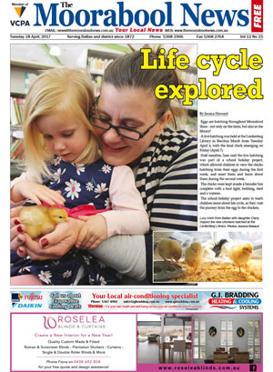 The Moorabool News front cover - 18th April 2017