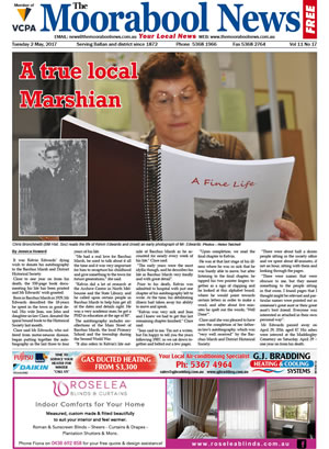 The Moorabool News front cover - 2nd May 2017