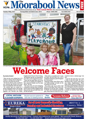 The Moorabool News front cover - 9th May 2017