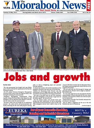 The Moorabool News Front Cover - 23 May 2017