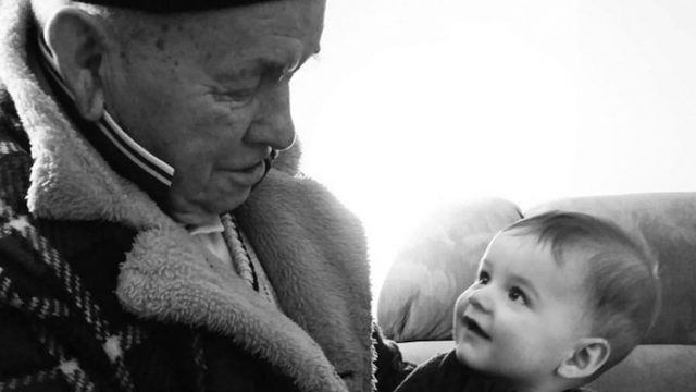 Ken Handford and his grandson Photo - sumbitted