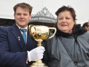 Ballan Jockey Club President Billy Smith with Catherine Moon