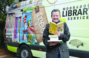 Kristie Seketa – MSC Regional Library Officer with the new look library van. Photo – Helen Tatchell
