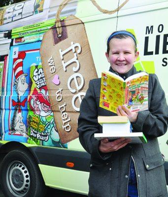 Kristie Seketa – MSC Regional Library Officer with the new look library van. Photo – Helen Tatchell