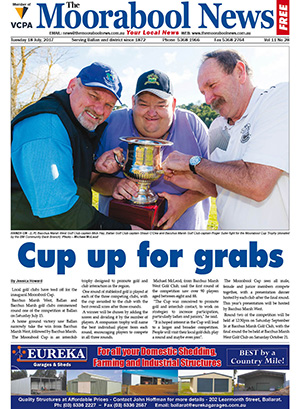 The Moorabool News Front Cover 18 July 2017