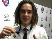 The Brownlow Medal of the BJFL U16.5 football joint winner, Ballan local Riely Ranieri Photo - Helen Tatchell