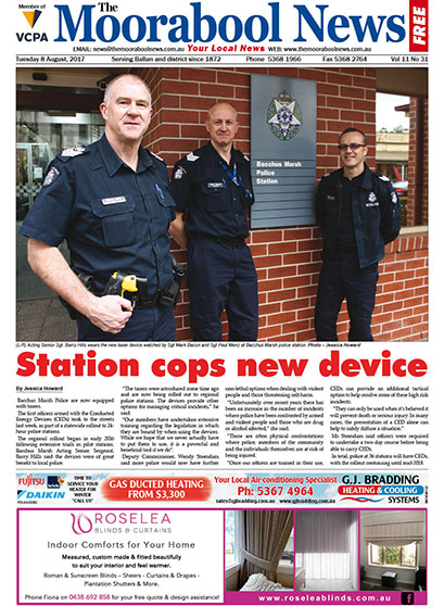 The Moorabool News Pg1 - 8 August 2017