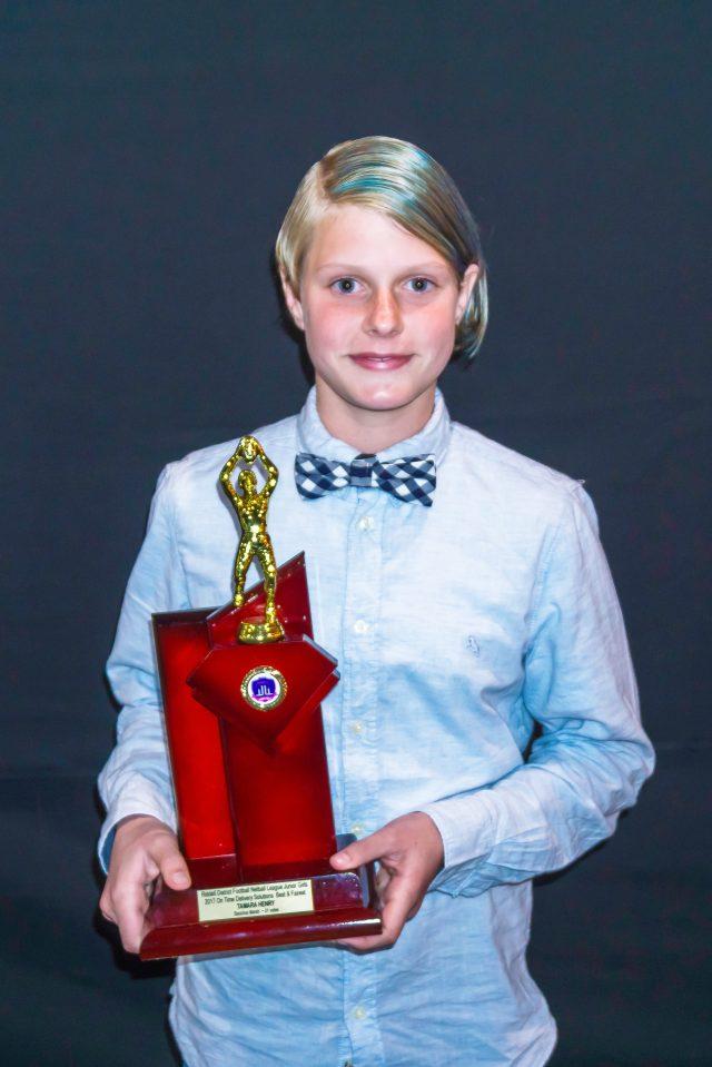 AFL Goldfields Riddell Junior Girls under-13 best and fairest winner, Tamara Henry
