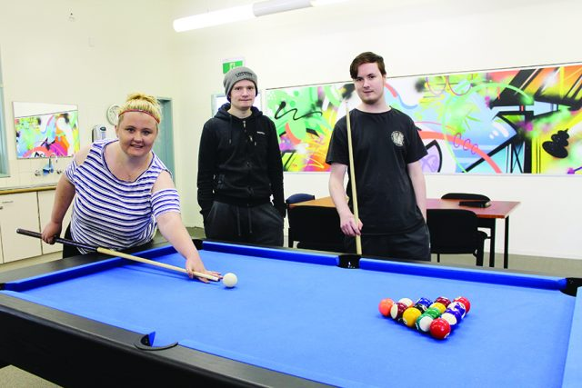 SPACE FOR YOUTH - (L-R) Katie Curwood, Elyk Morganleheny and Thomas Alkemade. Photo – Jessica Howard