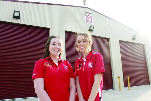(L-R) Peyton and Teneal will represent not only their local Greendale and Coimadai CFA brigades, but Victoria. Photo – Jessica Howard