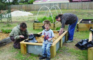 Gardening at the Darley Community Art Garden Photo - MSC