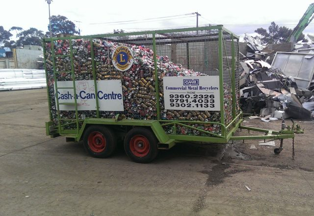 The Bacchus Marsh Lions Club's Cash a Can trailer, which was stolen over the second weekend of December Photo - Bacchus Marsh Lions Club