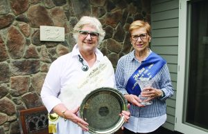 Anne and Judith with their sash and prizes from 1971 and 1966 Photo – Jessica Howard
