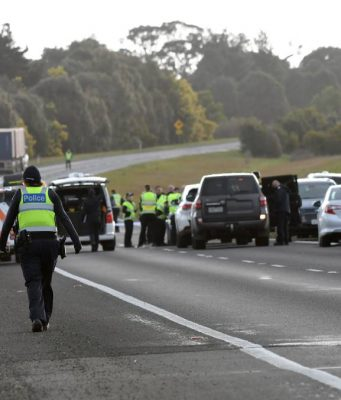The crash scene. Picture: Kate Healy, The Ballarat Courier