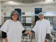 Interim Chief Executive of Djerriwarrh Health Services, Amanda Edwards and Member for Buninyong Geoff Howard in Djerriwarrh Health Service's Central Sterile Stock Department, which has received $468,000 in funding Photo - Jessica Howard